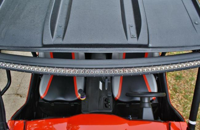 50 dual row led radius lightbar here you can see the curve of the 50 radius light aloadofball Image collections